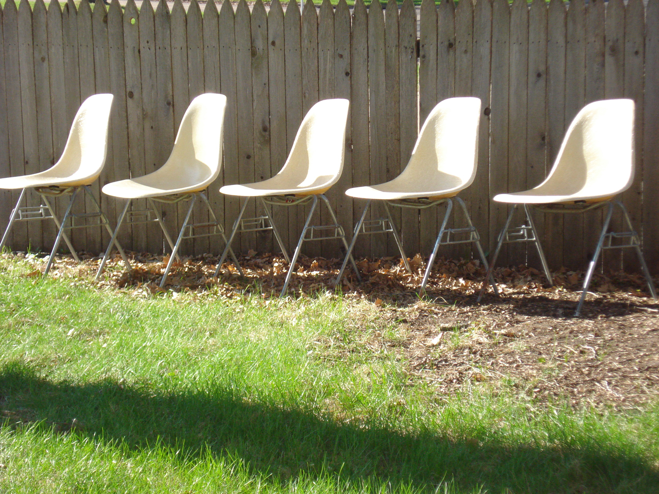 Herman Miller fiberglass shell chairs