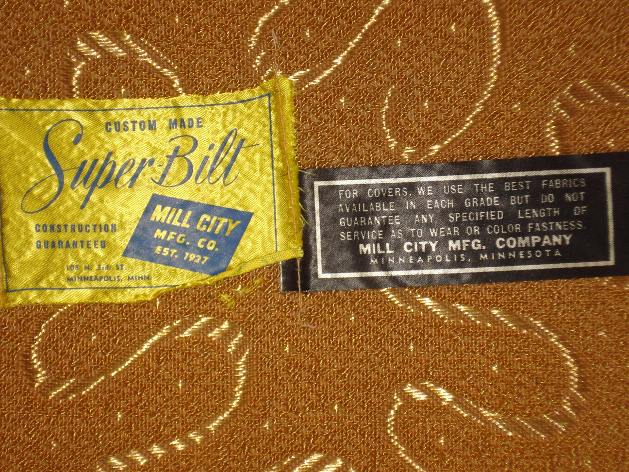 Tags on Mill City mid-century lounge chair
