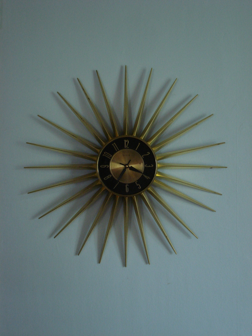Elgin Starburst Wall Clock