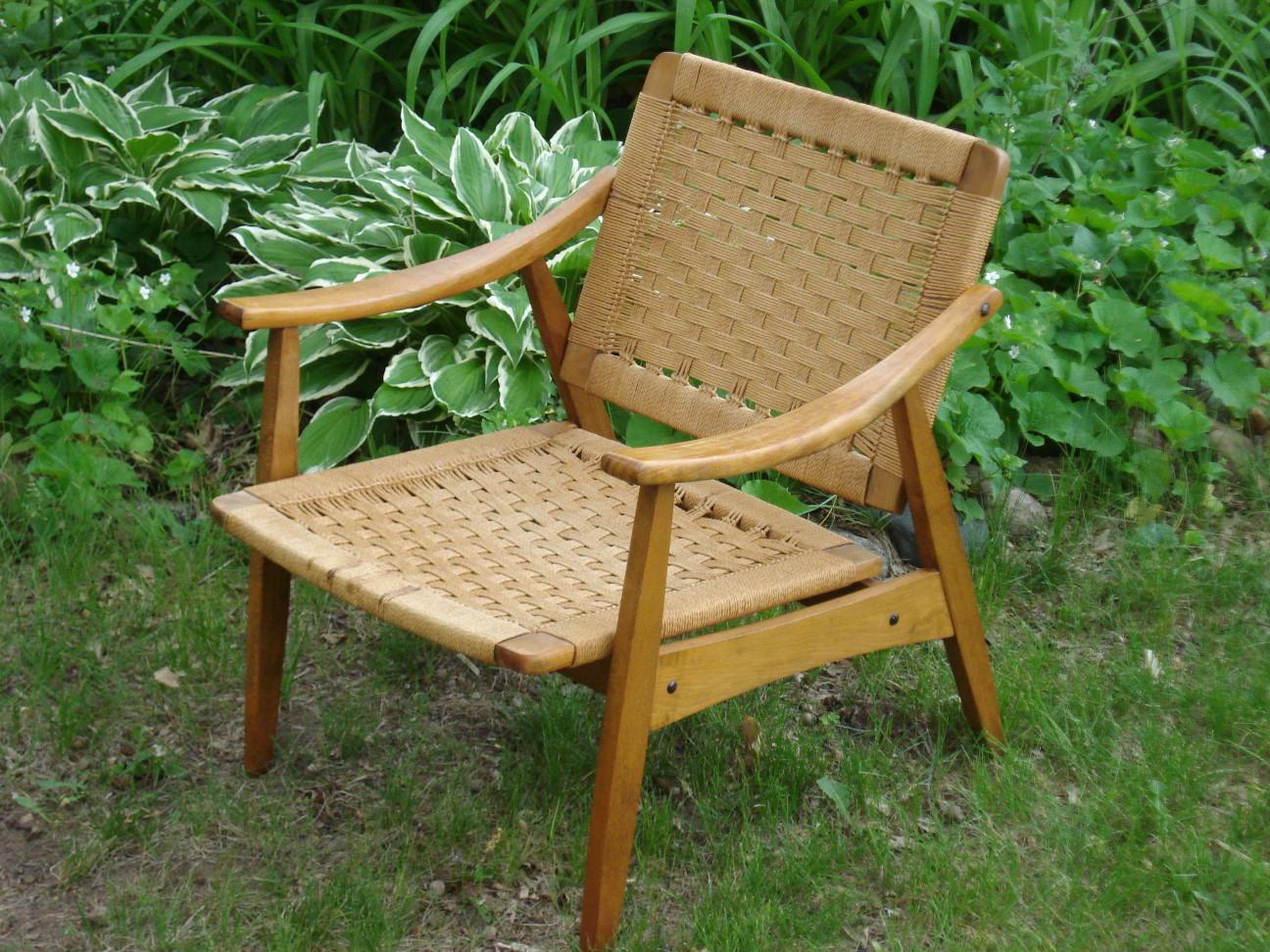 Mid-century Yugoslavian Cord Chair