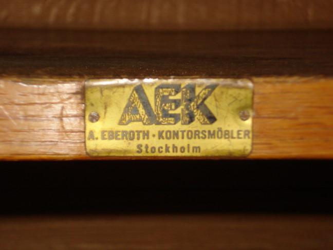 A. Eberoth - Kontorsmobler Rail Road Ticket Agent's Cabinet.