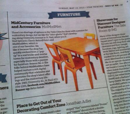 "MidModMen part of StarTribune's 2013 ""Best of MN"""