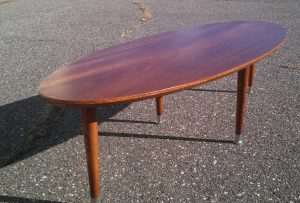 MCM inspired Surfboard Coffee Table made by Erik G. Warner