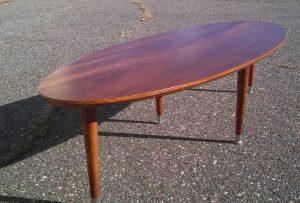 MCM inspired Surfboard Coffee Table made by Erik G. Warner