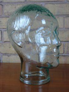 1980s Glass Head