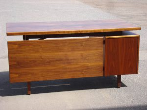 Jens Risom floating top desk - refinished by Erik G. Warner