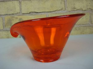 Viking Glass persimmon Bon Bon dish