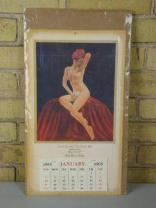 1965 Vintage Pin-up Calendar