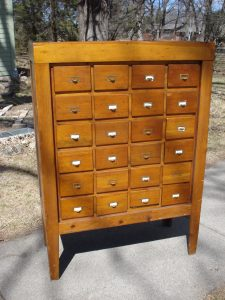Vintage 24 drawer Card Catalog Cabinet