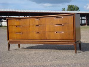 United Mid Century 9-drawer Dresser - Restored by Erik G. Warner