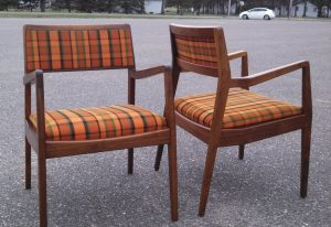 Jens Risom U140 Armchairs - Refinished by Erik G. Warner