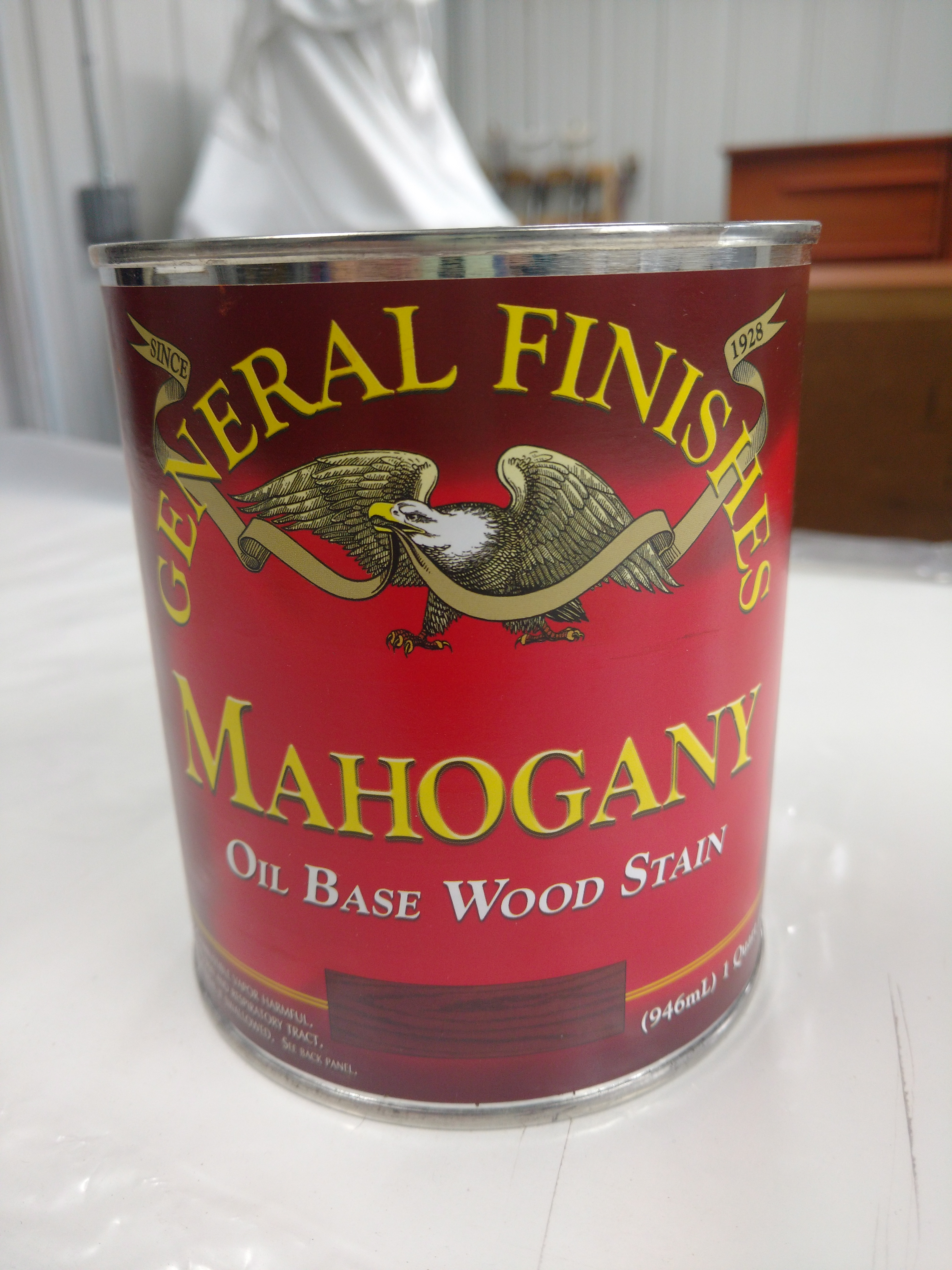After a little light sanding I applied General Finishes Mahogany stain.