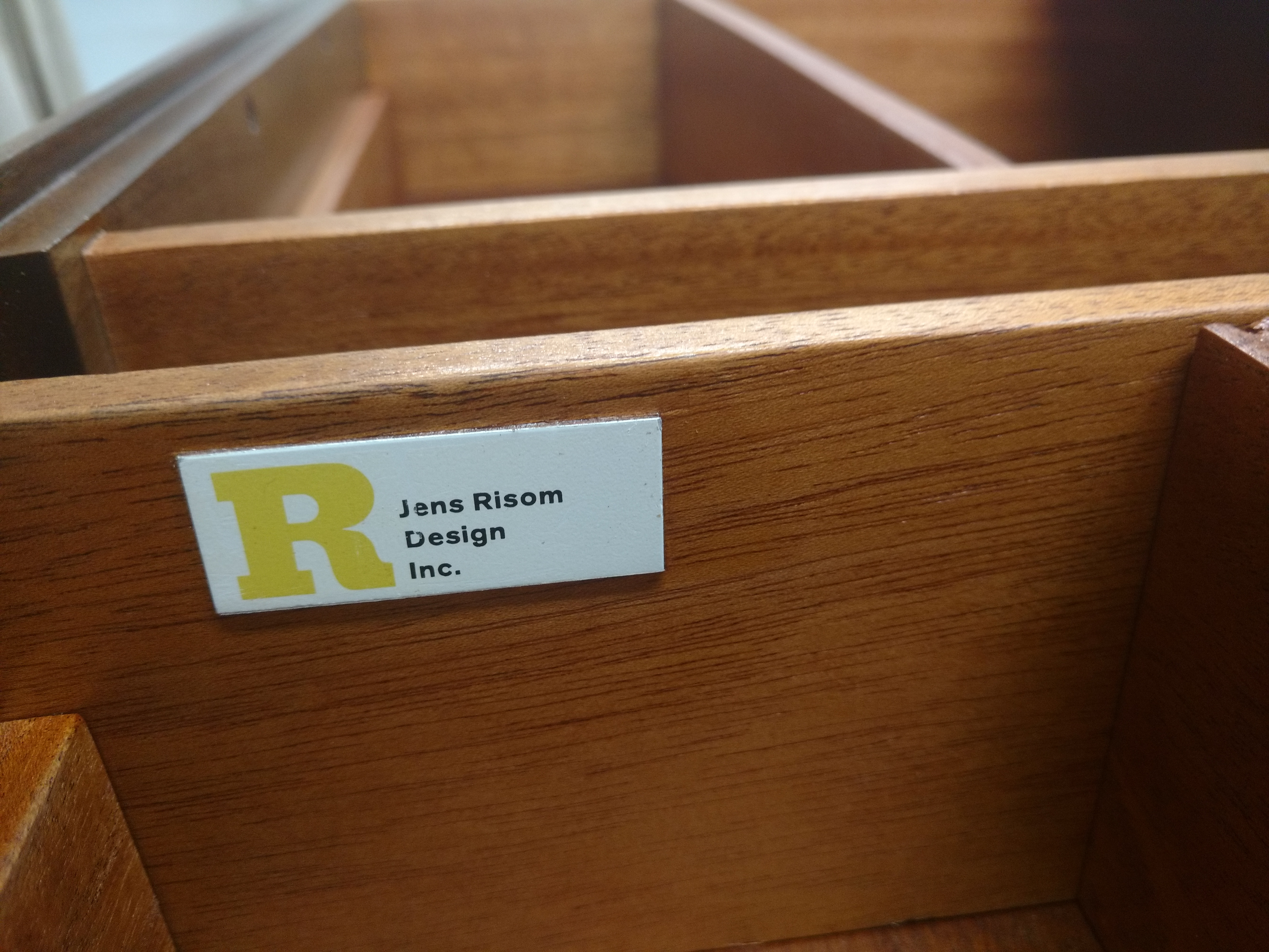 After: Jens Risom credenza drawers.